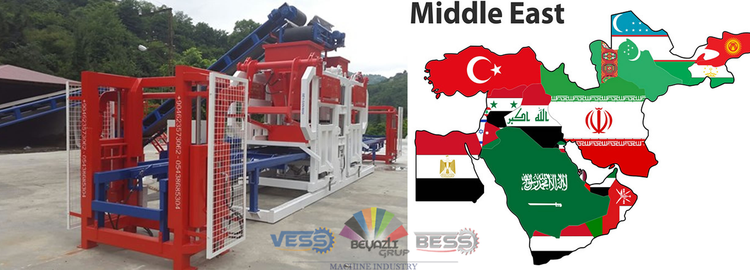 Concrete Block Making Machine For Middle East Countries Block Making Machine Bess Machines