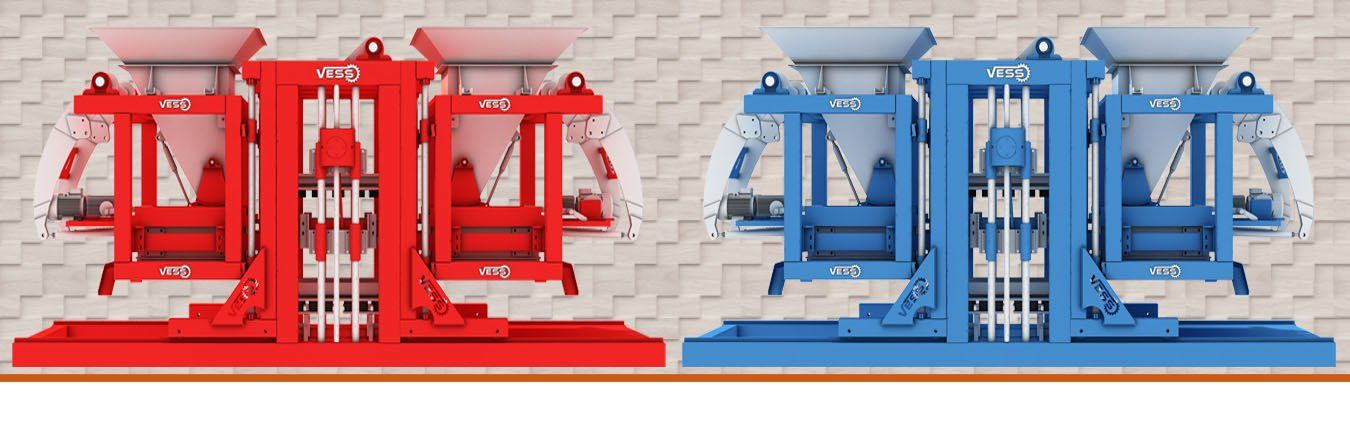 red and blue paving block machine, paver block making machine, concrete paving machine, paving machine for sale
