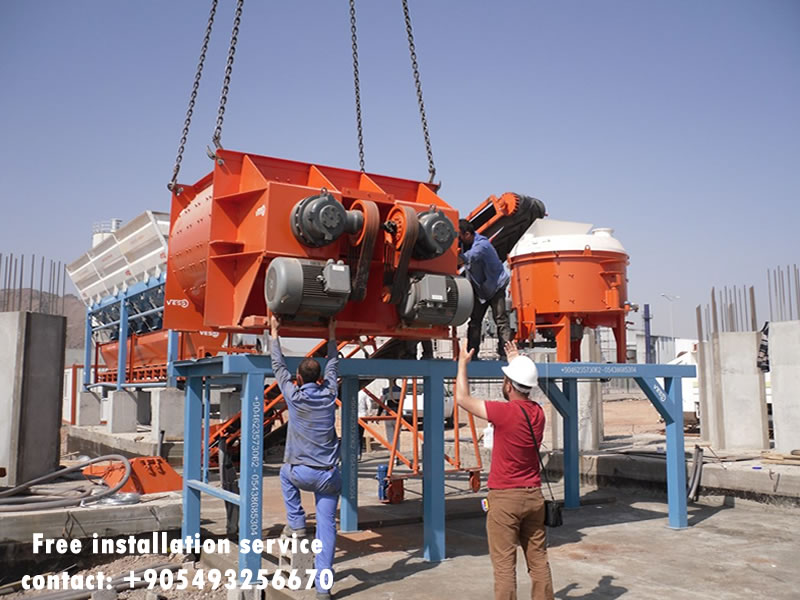 fully automatic concrete block machine free installation