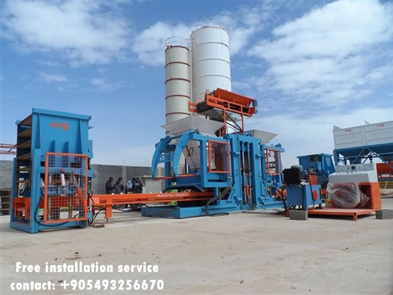 fully automatic concrete block machine free installation brick making machine price
