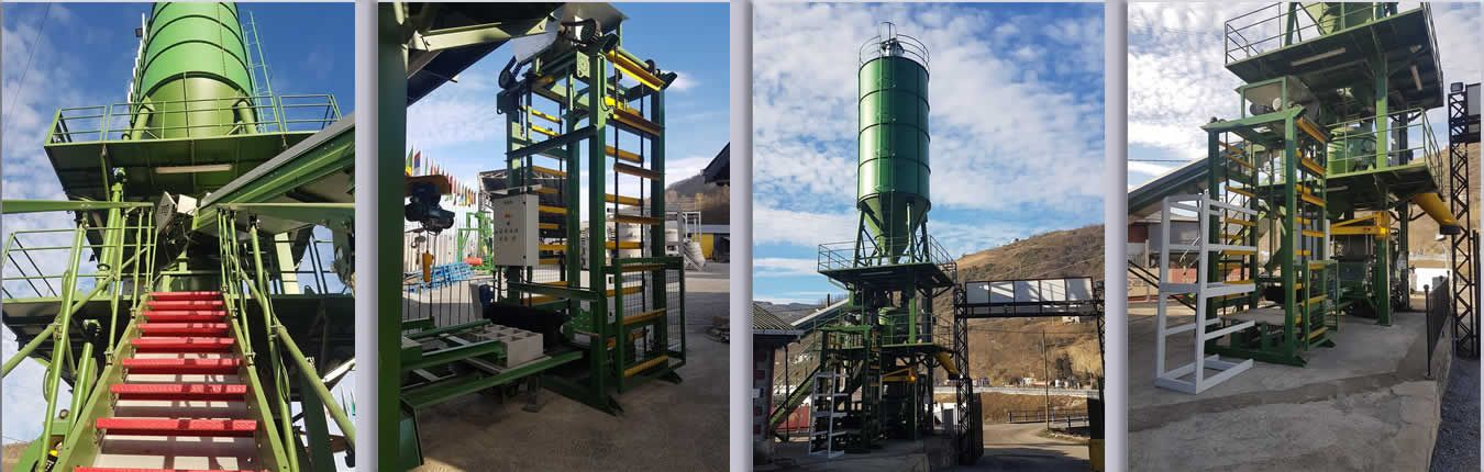 quality hollow block machine-compact-paving-hollow-block-machine-concrete-plant-green color machine