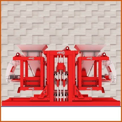 Red color paving block machine, paving block machine for sale, quality paving block machine