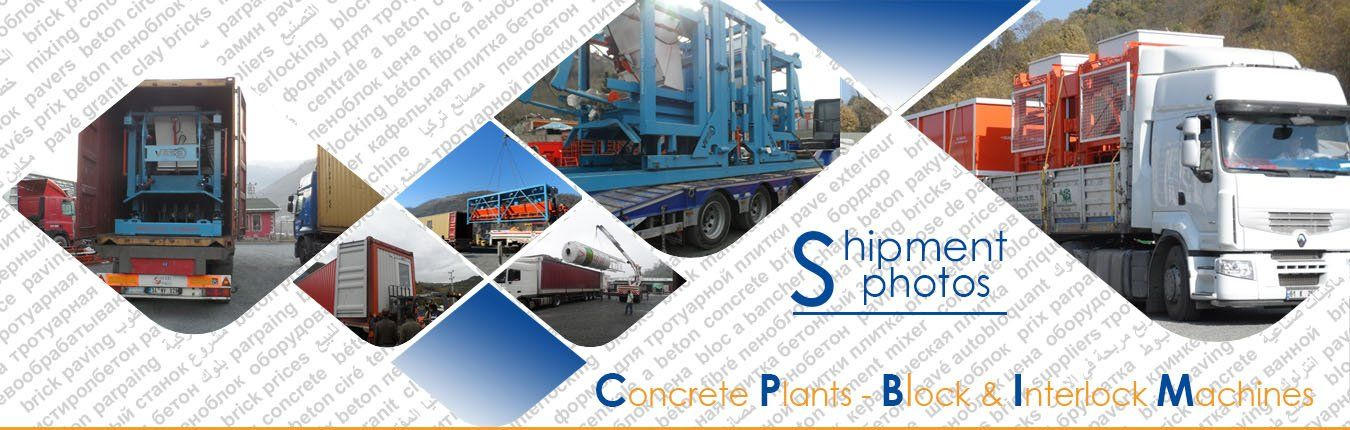 shiping of paving block making machine to Saudi Arabia, South Africa and Middle East